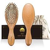 BFWood Haarbürste zum Entwirren von dickem und lockigem Haar – Holzgriff mit abgerundeten...