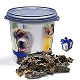 Lyra Pet 10 kg PFERDEHERZ getrocknet hypoallergen Hund in 30 L Tonne + Geschenk