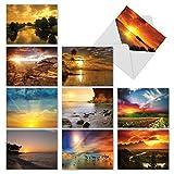 Sun Einstellungen: 10sortiert Trauer Grußkarten mit Großartigen Scenes of Sonnenuntergänge, mit...
