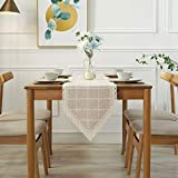 Joycaling Tischläufer Natürliche Makramee Häkelspitze Tisch Home Tischläufer Mit Quasten for...