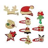 Frcolor 10 Stücke Weihnachten Haarspange Baby Haarklammern Haarclips Haarschmuck Mädchen Kinder...