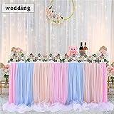 ETbotu Tischrock mit langem Faden, für Hochzeit, Party, Dekoration, Farbe 4,3 m