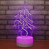 Nachtlicht 7 farbe geändert visuelle led nachtlicht kreative weihnachtsbaum modellierung...