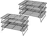 Tebery 2 Stück 3-stöckiges Auskühlgitter, faltbar, 40*25*22 cm, Leichtes Lösen, extra große...