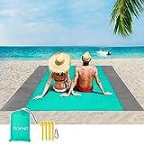 ISOPHO Picknickdecke 200 x 210 cm Stranddecke Wasserdicht, Strandmatte 4 Befestigung Ecken...