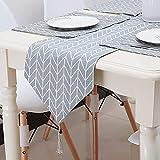 Bestenrose liefern Tischläufer/Tischdecke Dekoration 2 Seiten Baumwolle Leinen Klassische...