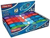 Tipp-Ex Micro Tape Twist, 10 Korrekturroller, Korrekturmäuse in Blau, Rot, Lila und Grün,...