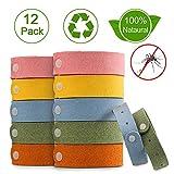 Nasharia Mückenschutz Armband, 12 Stück Anti Mosquito Bracelet Repellent Wasserdichtes Wristband...