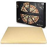 Navaris Pizzastein XL fr Backofen Grill aus Cordierit - Pizza Stein Ofen Brot Backen Flammkuchen -...