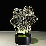 3D Illusion Lampen Zusammenfassung 7 Farben Led Nachtlicht Touch-Schalter USB Einsatz Tischlampe...