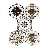 Fenteer 5er-Set Hexagon Fliesenaufkleber Fliesenfolie Fliesensticker Wandaufkleber -Wohnkultur - 05