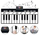 GAOYANZI Klaviermusikmatte Mit 24 Tasten Klaviermatte, 10 Wählbare Musikinstrumente Eingebauter...