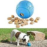 Sweetypet Snackbälle Katzen: Hunde-Spielball aus Naturkautschuk, mit Snack-Ausgabe, Ø 8 cm, blau...