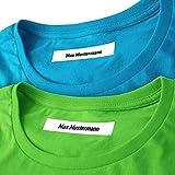 Wäscheetiketten (50) mit Namen zum Einbügeln Bügeletiketten Wäscheschilder Namensschilder...