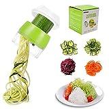 TOCYORIC Spiralschneider Hand für Gemüsespaghetti, 4 in1 Gemüse Spiralschneider für Obst...