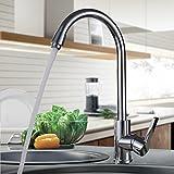 Auralum Chrom Wasserhahn Küche 360° schwenkbarer Küchenarmatur Hoher Auslauf Hochdruck Armaturen...