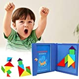 urbenlife Magnetische Tangram Puzzles Buch Spiel, Reise Tangram Puzzles Buch Spiele Lernspielzeug...