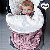 Baby-Stricksack für Kinderwagen, Autositz, Schlafsack, universal, Baby-Fußsack, Einlage für...