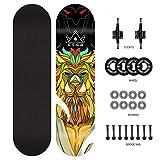 YF-Barstool Mini Complete Cruiser Skateboard für Erwachsene Tricks Skateboard und 4 weiche...