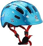 ABUS Smiley 2.0 Kinderhelm - Robuster Fahrradhelm für Mädchen und Jungs - Blau mit maritimen...