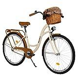Milord. 28 Zoll 3-Gang braun Komfort Fahrrad mit Korb und Rückenträger, Hollandrad, Damenfahrrad,...