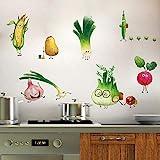 ufengke Wandtattoo Cartoon Gemüse Küche Wandaufkleber Wandsticker Karotte Zwiebel für Esszimmer...