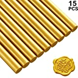 11mm 15 Stücke Klebe Pistole Siegellack Wachs Sticks für Retro Vintage Wachs Siegel Stempel und...