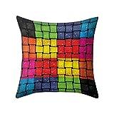 Yowablo Kissenbezug Kissenhülle Wurfkissenbezug Farbe der visuellen Wirkung Drucken Muster für...