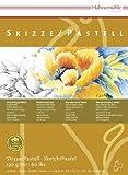 Skizze/Pastell-Block 100% Hadern 130g/m, DIN A5, 30Blatt