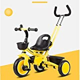 S2F5 Kinder Tricycle abnehmbare Stativ Mit Putter Griff (Color : Green)