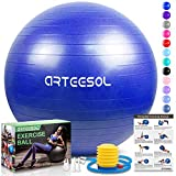 arteesol Gymnastikball, Balance Ball 65cm/75cm Yoga Ball mit Pumpe Anti-Burst Fitness Balance Ball...