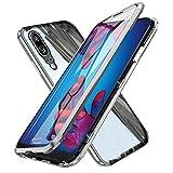 Oihxsetx Schutzhülle für Huawei P30, magnetische Adsorption, doppelseitig, gehärtetes Glas,...