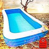PP Family Fun Lounge Pool Riesen Swim-Strand-Spielzeug 388  200  68cm Mit Repair Patch-elektrischer...