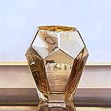 SCJ Handgemachte geometrische Modellierung goldene Glasvase Wohnzimmer nach Hause getrocknete...