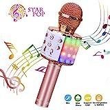 BlueFire Karaoke Mikrofon, Bluetooth Mikrophon mit Aufnahme, Dynamisches Licht Drahtlose Tragbares...
