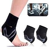 Sprunggelenk Bandage, ASANMU 1 Paar Bandage Fußgelenk Sprunggelenkbandage mit Klettverschluss...