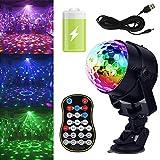 GCBTECH Mini Discokugel mit Batterie LED Diskokugel neon Partylicht 15 Farben Musikgesteuert für...