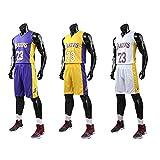 XCR Kinder Jungen Mädchen Herren Erwachsene NBA Lebron James # 23 LBJ LA Lakers Retro Basketball...