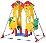 Garten Schaukel Sitze Stahl Kunststoff Kinderspielzeug Kinderlaufstall,Green