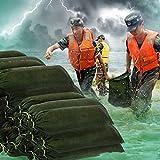 pegtopone Verdickter Sandsack aus Segeltuch mit Kordelzug zum Binden. Sandsack überflutungssicher...