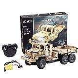 SMUOO DIY 2.4 G R/C Baustein LKW-Spielzeug,Pdagogisches Spielzeug Auto Modell-Gebaut Offroad RC...