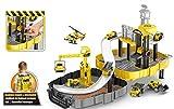 Brigamo 🚧 Baumeister Spielset aufklappbare Baustelle mit Kran und zwei Baustellen Fahrzeuge im...
