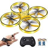 SGILE Ferngesteuerte Drohne mit 2 Ersatzakku, RC Drone mit LED, 360 Flip, Schwerkraftsensor,...