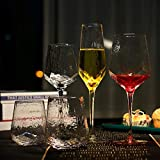 Retro Hammer Muster Home Glas Weinglas Kreative Becher Gold Rand Champagner Glas-Bunte Ripple...