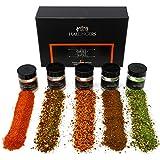 Hallingers 5er Premium-Grill-Gewürze als Geschenk-Set (95g) - Grilllust (MiniDeluxe-Box) - zu...