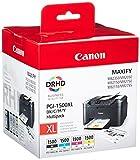 Canon PGI-1500 XL Multipack Druckertinten - BK/C/M/Y mit hoher Reichweite