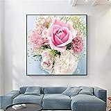 KWzEQ Frühlingsdekoration Tautropfenflora Blumennelke Rosenplakat und Druckdekoration,Rahmenlose...