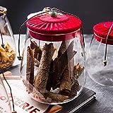 JANRON Bonboniere Glasschale Kristallschale mit Klarglas-Vorratsglsern Deckel Dekorative Candy Bowl...