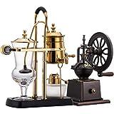 VSander Kaffeemaschine, Siphon Pot Kaffeekanne Alkohol Lampe Siphon Coffee Machine Alkohol...