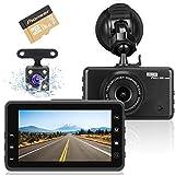 Dashcam Autokamera, Full HD 1080P Videorecorder mit 170 Weitwinkelobjektiv, G-Sensor, WDR,...